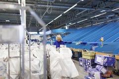 Automatizado classificando o centro do cargo do russo em St Petersburg Imagem de Stock