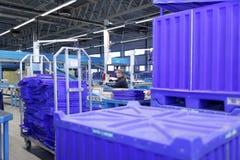 Automatizado classificando o centro do cargo do russo em St Petersburg Fotos de Stock