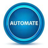 Automatize o botão redondo azul do globo ocular ilustração stock