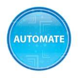Automatize o botão redondo azul floral ilustração royalty free