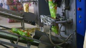 Automatyczna maszyna dla pakować w fabryce zdjęcie wideo