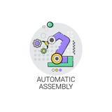 Automatyczna zgromadzenie maszynerii Przemysłowej automatyzaci przemysłu produkci ikona royalty ilustracja