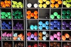 Automatyczny ballpoint pióro Szkolne dostawy, materiałów akcesoria kolorowe materiałów Materiały sklep Zdjęcia Stock