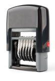 Automatyczny foki numerator z czerwonym guzikiem obrazy royalty free