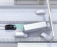 Automatyczny międlenie system unika kraksę samochodową od wypadku samochodowego Obrazy Royalty Free