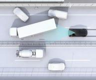 Automatyczny międlenie system unika kraksę samochodową od wypadku samochodowego Zdjęcie Stock