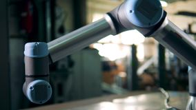 Automatyczny robot rusza się w magazynie zbiory wideo