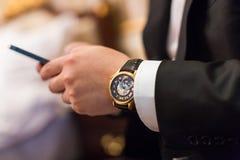 automatyczny zegarek Zdjęcia Royalty Free