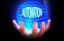 Automatyzaci kuli ziemskiej tła błękit Fotografia Stock