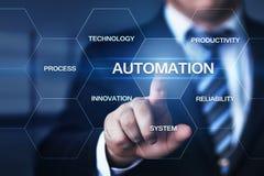 Automatyzaci oprogramowania technologii procesu systemu biznesu pojęcie obrazy stock