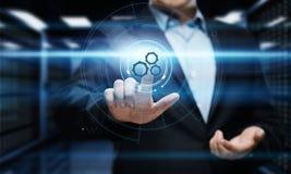 Automatyzaci oprogramowania technologii procesu systemu biznesu pojęcie Obrazy Royalty Free