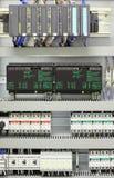 automatyzaci przemysłowy kontrolny obraz stock