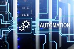 Automatyzacja rozwoju biznesu i innowaci technologia w produkci Interneta i technologii pojęcie na serw fotografia stock