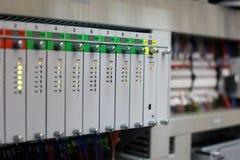 Automatyzacja system z programmable kontrolerami Obrazy Stock