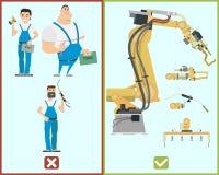 Automatyzacja w produkci Obrazy Stock