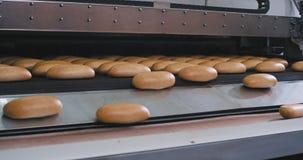 Automatyzujący konwejer świeży piec chleb w piekarnia przemysłu nowożytnej przemysłowej maszynie i linia zbiory