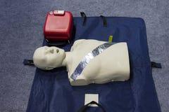 Automatyzujący zewnętrznie defibrillator zdjęcia stock