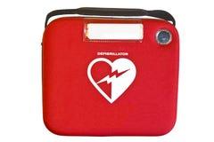 Automatyzujący Zewnętrznie AED Defibrillator lub Obraz Stock