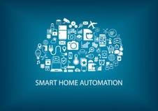 Automazione della casa astuta con tecnologia di computazione della nuvola Immagini Stock