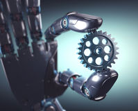 Automazione di ingegnere meccanico Immagini Stock