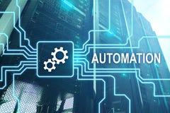 Automazione di tecnologia dell'innovazione e di processo aziendale nella fabbricazione Concetto di tecnologia e di Internet sulla fotografie stock