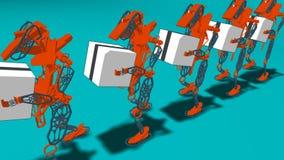 Automazione generativa - illustrazione 3D immagine stock