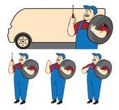 Automechaniker Vektor Abbildung
