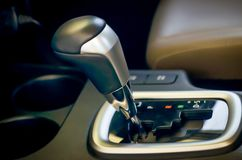 Autometic transmission gear handle in car royalty free stock image