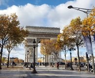 The automn is comming to paris, France Stock Photography