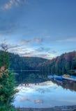 Automn lake royaltyfri fotografi