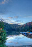 Automn lake. Lake, fall colour in Lac Castor, Mauricie, Quebec, Canada Royalty Free Stock Photography