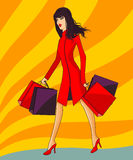 Automn shopping Stock Photos
