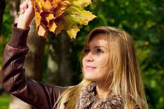 Automn woman Royalty Free Stock Photos