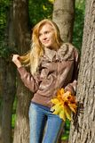 Automn woman Stock Photography