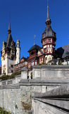 Automne au château de Peles, Roumanie Photographie stock libre de droits