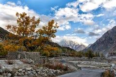 Automne au Pakistan photographie stock