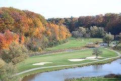 Automne au terrain de golf Photographie stock libre de droits
