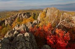 Automne chez les Monts Oural Photo libre de droits