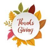 Automne, chute, fond rond de cadre de cercle de thanksgiving illustration de vecteur