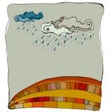 Automne coloré illustré illustration libre de droits
