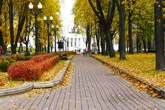 Automne d'or à Minsk Image libre de droits