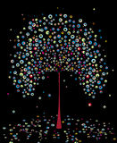 Automne d'arbre, abstrait. Vecteur. illustration stock