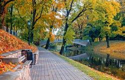 Automne dans Central Park à Riga Images stock
