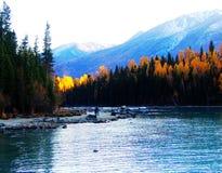 Automne dans des kanas de lac Image libre de droits