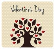 Automne dans l'arbre de jour de Valentines d'amour Images libres de droits
