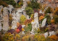 Automne dans la vallée du Hurdens de Demerdzhi image stock