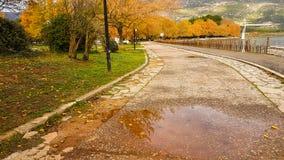 Automne dans la ville Épire Grèce d'Ioannina Photos stock
