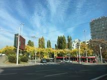 Automne dans la ville Image stock
