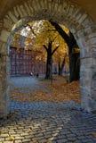 Automne dans le château d'Oslo Photo stock