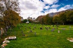Automne dans le cimetière norvégien Image libre de droits